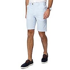Maine New England - Light blue striped regular fit shorts