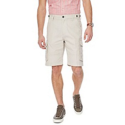 Maine New England - Big and tall cream cargo shorts