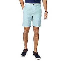 Maine New England - Green linen blend Oxford chino shorts