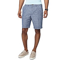 Maine New England - Navy linen blend Oxford chino shorts