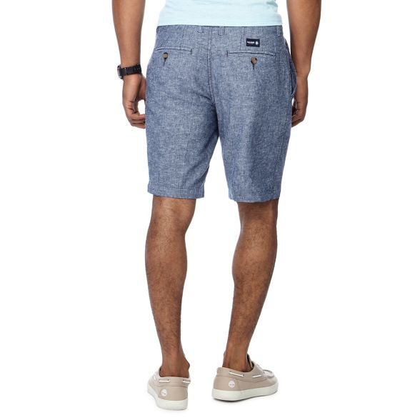 Maine New England tall chino shorts and linen blend Big oxford navy PPr4d5qw