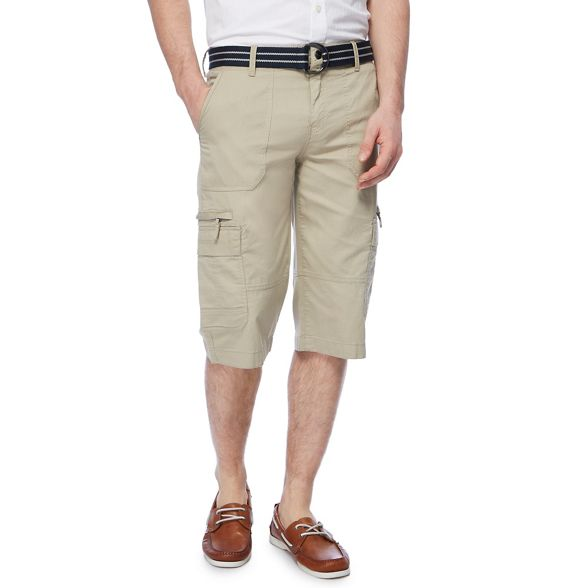New England Maine cargo shorts Beige belted fqww1anC