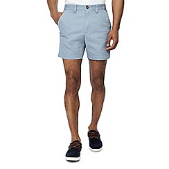 Maine New England - Big and tall pack of 2 pale blue and off white chino shorts