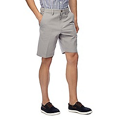 Maine New England - Big and tall pack of two grey and mauve chino shorts