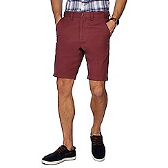 Maine New England - Big and tall dark pink regular fit chino shorts