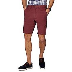 Maine New England - Dark pink regular fit chino shorts