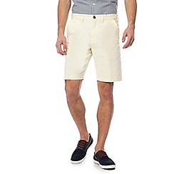Maine New England - Big and tall light yellow chino shorts