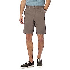 Maine New England - Big and tall taupe chino shorts