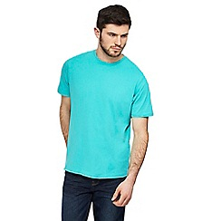 Maine New England - Big and tall turquoise crew neck t-shirt