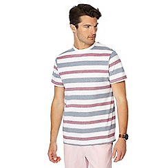 Maine New England - Big and tall rose pique textured stripe t-shirt