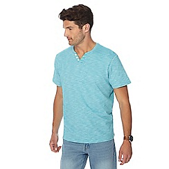 Maine New England - Turquoise space dye notch neck t-shirt