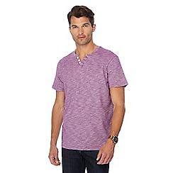 Maine New England - Purple space dye notch neck t-shirt
