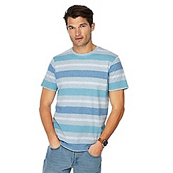 Maine New England - Big and tall blue block stripe t-shirt