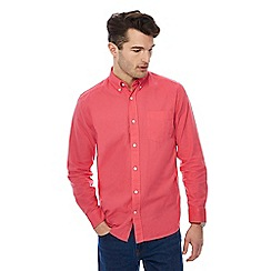 Maine New England - Pink long sleeve linen blend shirt