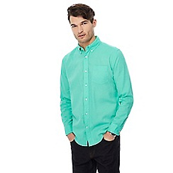 Maine New England - Green long sleeve linen blend shirt