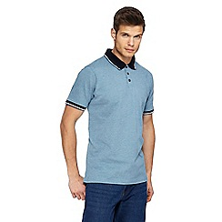 Maine New England - Dark turquoise tuck stitch polo shirt