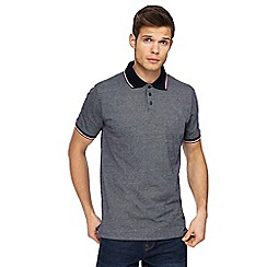 Maine New England - Big and tall navy tuck stitch polo shirt