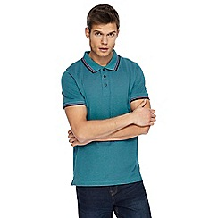 Maine New England - Big and tall green textured tipped tailored fit polo shirt