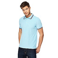 Maine New England - Big and tall light blue tipped tailored fit polo shirt