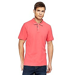 Maine New England - Big and tall pink contrast placket polo shirt