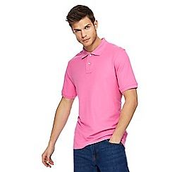 Maine New England - Big and tall light pink contrast placket polo shirt
