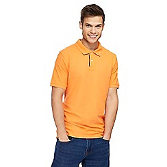 Maine New England - Orange contrast placket polo shirt