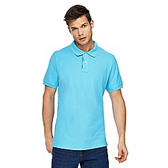 Maine New England - Light turquoise contrast placket polo shirt
