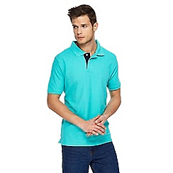 Maine New England - Big and tall turquoise contrast placket polo shirt