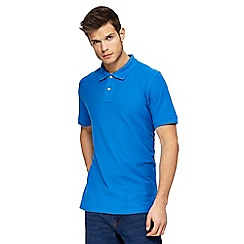 Maine New England - Big and tall bright blue contrast placket polo shirt