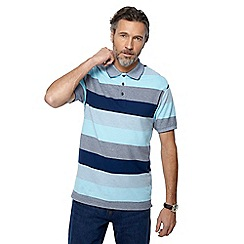 Maine New England - Big and tall blue striped polo shirt