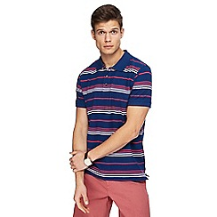 Maine New England - Big and tall navy striped polo shirt