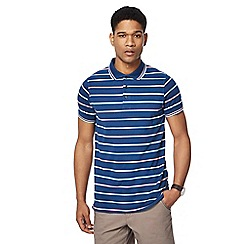 Maine New England - Big and tall dark blue columbus stripe tailored fit polo shirt