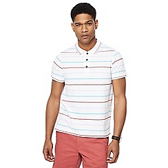 Maine New England - White Columbus stripe tailored fit polo shirt