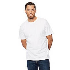 Maine New England - Big and tall pack of two white crew neck t-shirts