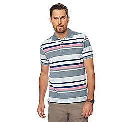Maine New England - Aqua striped polo shirt