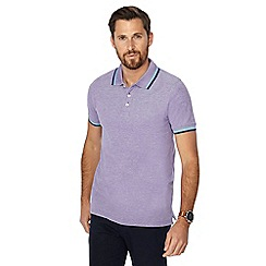 Maine New England - Purple tipped polo shirt