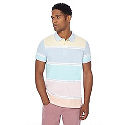 Maine New England - Multi-coloured striped print tailored fit polo shirt