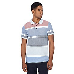 Maine New England - Red stripe print tailored fit polo shirt