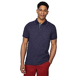 Maine New England - Big and tall navy broken stripe print tailored fit polo shirt