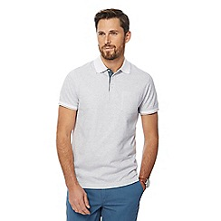 Maine New England - Big and tall white broken stripe print tailored fit polo shirt
