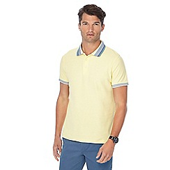 Maine New England - Big and tall yellow tipped collar tailored fit polo shirt