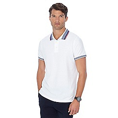 Maine New England - Big and tall white tipped collar tailored fit polo shirt