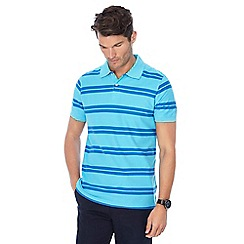 Maine New England - Big and tall light turquoise stripe print tailored fit polo shirt