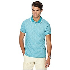 Maine New England - Big and tall turquoise tipped tailored fit polo shirt
