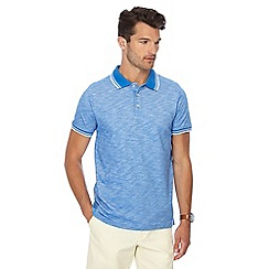 Maine New England - Big and tall blue tipped tailored fit polo shirt