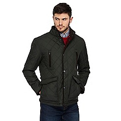 Maine New England - Big and tall khaki quilted jacket