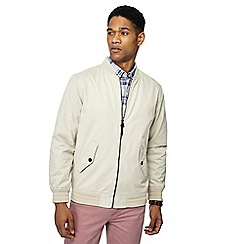Maine New England - Big and tall off white bomber jacket