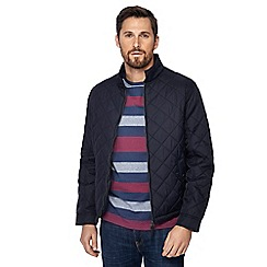 Maine New England - Big and tall navy quilted Harrington jacket