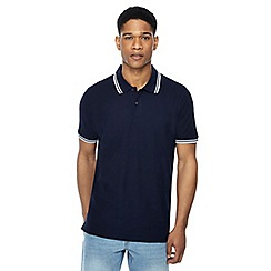 Maine New England - Big and tall pack of 2 navy tipped polo shirts