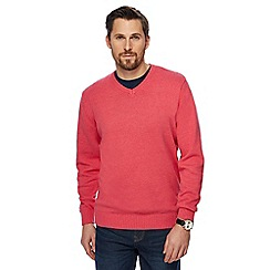 Maine New England - Big and tall pink v-neck jumper